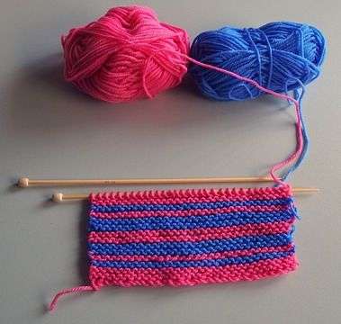 Knitting at home while spending weekend holidays