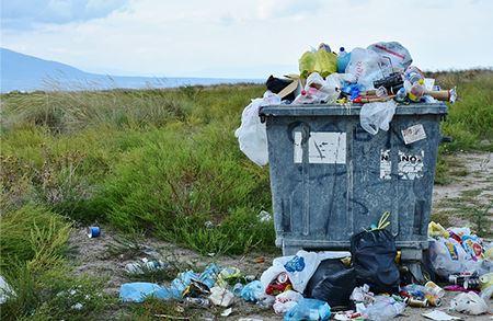 Plastic wastes at tourist destinations in Indonesia